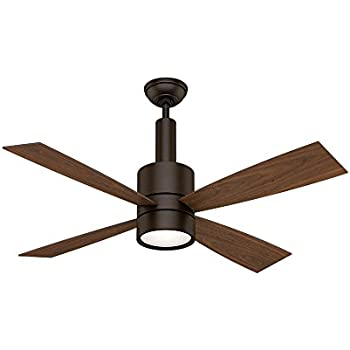 Casablanca 59069 bullet 54 inch brushed cocoa ceiling fan with four casablanca 59069 bullet 54 inch brushed cocoa ceiling fan with four walnutburnt walnut aloadofball Gallery