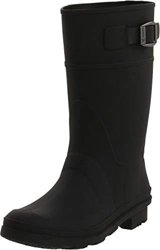 Kamik unisex-child Raindrops Rain Boot Black, 4 M US Big Kid (Boots For Rain Child)