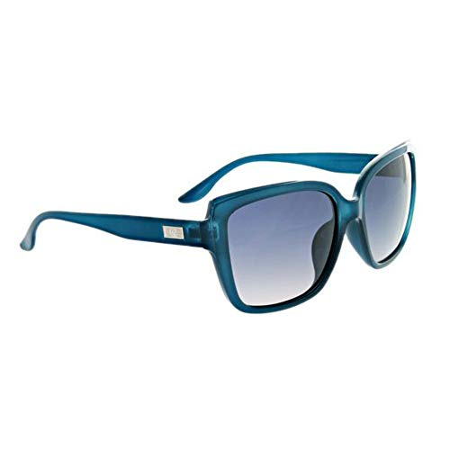 Optic Nerve Kumari Polarized Women's Sunglasses - Matte Crystal Blue Frame with Polarized Smoke Fade ()
