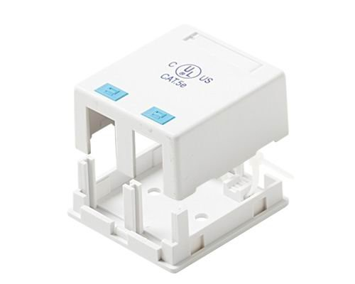 (Black Point Products BT-208 White Cat-5 2-Port Surface Mount Data Communication Box, White )