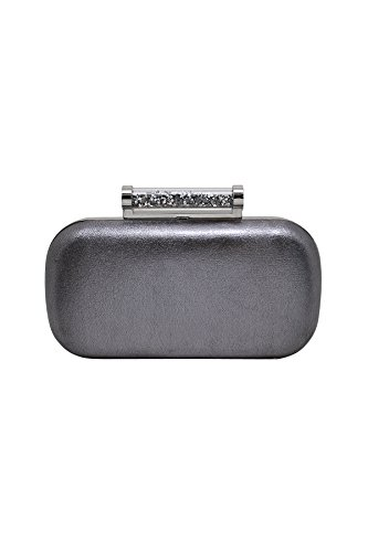 Sparkle and Shine Metallic Minaudiere with Pyramid Crystal Closure