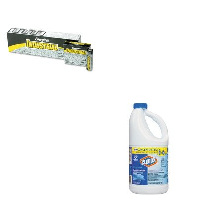 KITCOX31009CTEVEEN91 - Value Kit - Clorox Germicidal Bleach (COX31009CT) and Energizer Industrial Alkaline Batteries (EVEEN91)