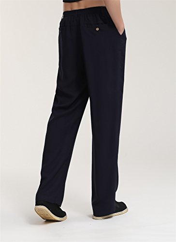 Elastique Kung Acvip Sport De Chanvre Style Noir Homme Pantalon Coton Fu En Chinois Traditionnel RxwSCEUqw
