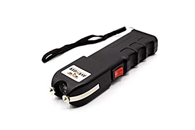 Avenger Defense Portable Stun Gun – Extremely Powerful Rechargeable Stun Gun for Self-Defense and Protection – Built-in Flashlight and Carrying Case – Intimidating and Comfortable Design – Loud Noise
