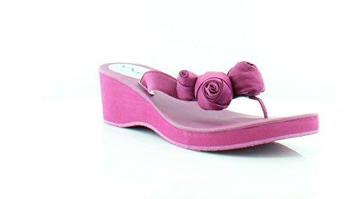Fuschia Satin Sandals (Nina Jaqui Women's Sandals & Flip Flops Fuschia Size 11 W)