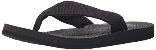 Sanuk Men's Yogi 4 Flip Flop, Blackout, 12 M US