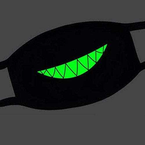 NUOLUX Unisex Mouth Face Mask Anti-Dust Teeth Luminous Anime Cosplay