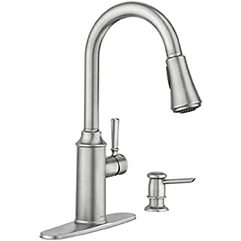 Moen Zabelle One Handle Pulldown Kitchen Faucet Amazon Com
