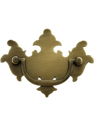 Colonial Chippendale Brass Bail Pull - 2 1/2