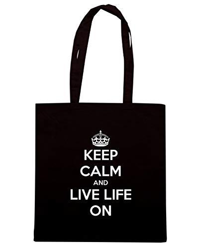 AND LIFE ON TKC1189 Shopper CALM LIVE KEEP Nera Borsa wUzPqWv