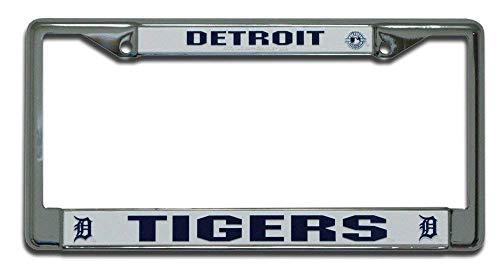 - B.Fighting Detroit Tigers MLB Chrome License Plate Frame