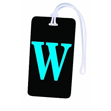 Initial Luggage Tag Letter W Personalized ID Tag