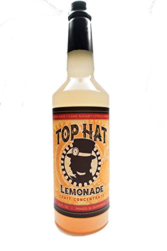 Top Hat Craft Lemonade Concentrate - 32oz Bottle Makes 32 Drinks (Soda Stream Flavor Syrups)