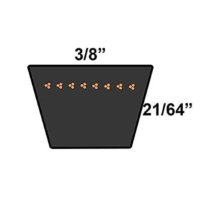 "D&D PowerDrive 954-04201A Craftsman Replacement Belt, 36"" Length, 0.38"" Width: Industrial & Scientific"