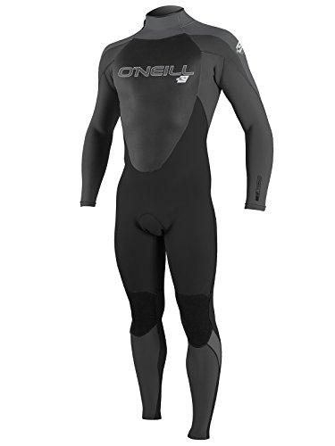 O'Neill Men's Epic 4/3mm Back Zip Full Wetsuit, Black/Oil/Smoke, Medium