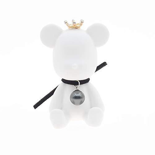 Cxp Boutiques Stay Cute Small Fresh Pearl Bear Spread Incense Stone Car Interior Car Outlet Decoration White ()