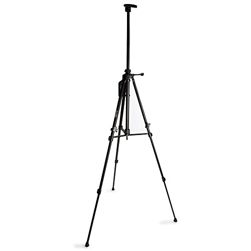 Artisel Lightweight Aluminum, Sturdy, Tripod Easel, Easily Mobile, Adjustable, Telescopic, Heavy Duty Easel, Office, Studio or Outdoor Use, With Travel Storage Carrying Case