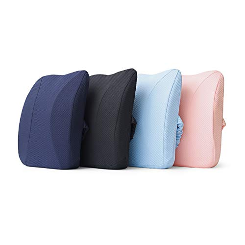 XJ&DD Office Lumbar Support pad,Waist Pillow,Car seat Cushion,Premium Memory foamfor Home Computer Games Travel Student-A 35x42cm(14x17inch) by XJ&DD (Image #6)