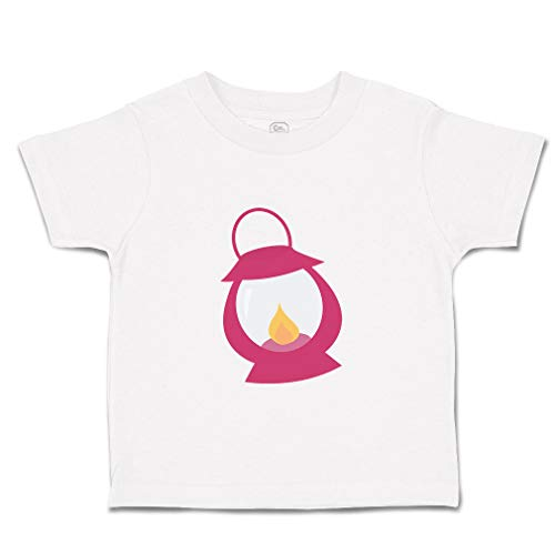 Custom Baby & Toddler T-Shirt Lamp Pink 4 Cotton Boy & Girl Clothes Funny Graphic Tee White Design Only 18 Months
