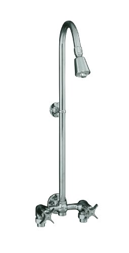 KOHLER K-7254-CP Industrial Exposed Shower, Polished Chrome