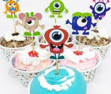 Monsters Inc Cupcake Toppers Birthday Party Supplies Favors Disney Monsters Pack of 24