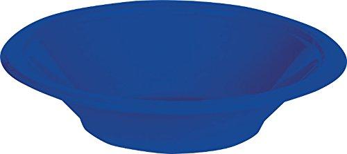 (Creative Converting 28314751 Plastic Bowls, 12oz, Cobalt Blue)