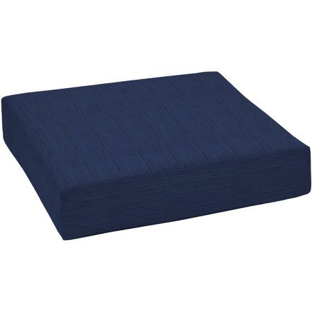 Outdoor Patio Deep Seat Bottom Cushion Filled with everLUXE poly and Durable, Luxurious Polyolefin Fabric, Grey Flannel Texture (Navy Texture) (Deep Seat Patio Cushions Clearance)