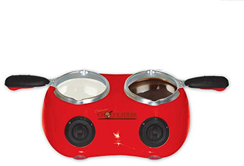 Total Chef CM20G Deluxe Chocolatiere Electric Fondue with Two Melting Pots (Red) ()