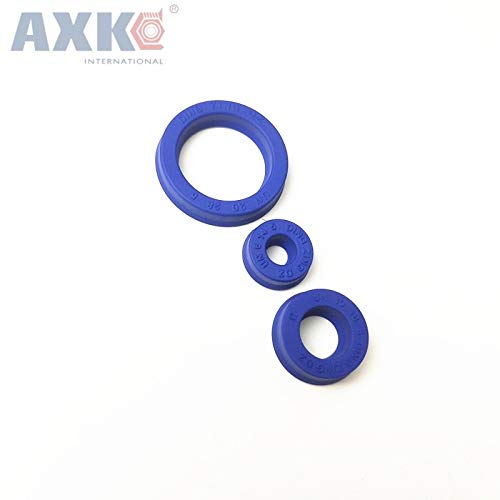 Gimax ID=26mm-28 mm U Cup Single Lip UNS Seal Hydraulic Cylinder Piston and Rod Seal U Ring Polyurethane (PU) Rubber Buffer Ring - (Size: 28x48x10)