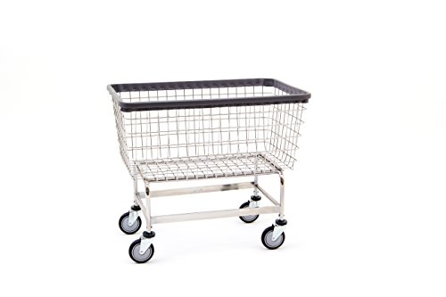 "R&B Wire 201H ""Big Dog"" Wire Laundry Cart, 6 Bushel, X-Chrome from R&B Wire Products"