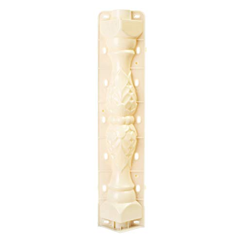 2 Pcs Balustrades Molds SENREAL Roman Column Mold Plastic Mould Garden DIY Casting Cement Plaster Concrete 70CM