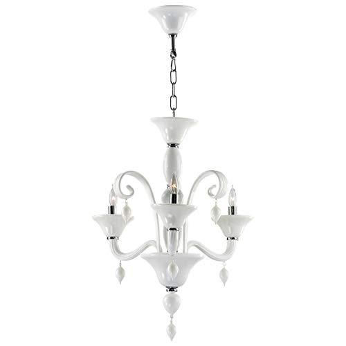 (Cyan Design Treviso Chrome & White Three-Light 22'' Wide)