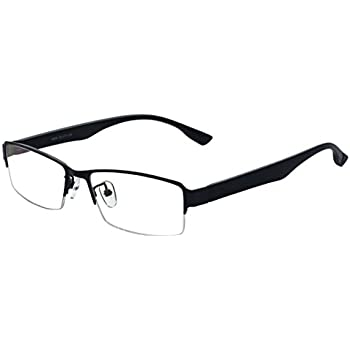 Amazon.com: ALWAYSUV Half Frame Clear Lens Business Glasses ...