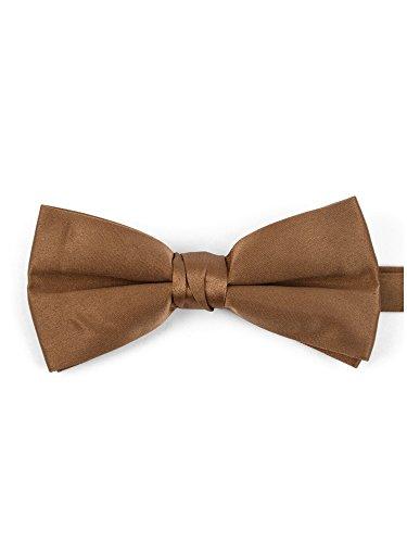 Men's Light Brown Pre-tied Adjustable Length Bow Tie - Formal Tuxedo Solid Color