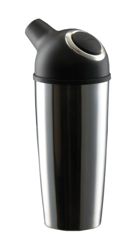 Trudeau 0978026 Easy Pour Cocktail Shaker, 25 oz, Black/Stainless