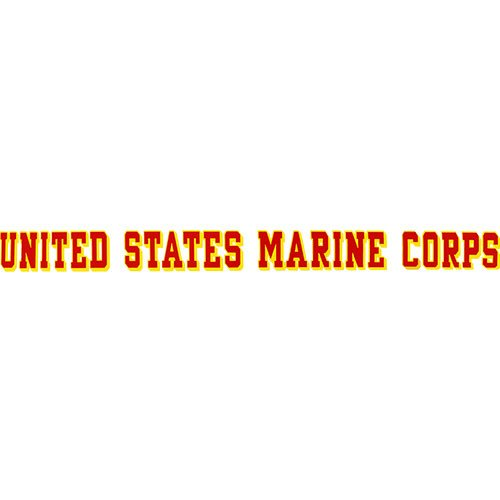 United States Marine Corps Window Strip (Sticker Strip Decal Window)