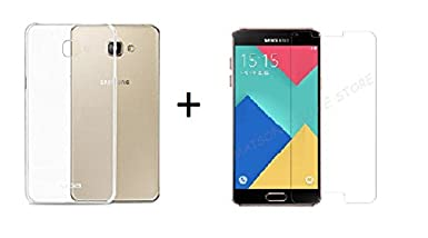 Lively Transparent Back Cover + Premium Tempered Glass for Samsung Galaxy A9 Pro  2016