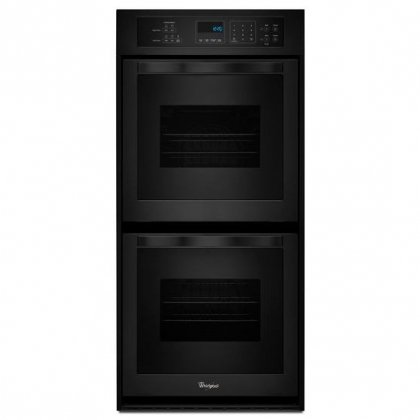 Whirlpool WOD51ES4EB 24″ Electric Double Wall Oven with 6.2 cu. ft. Total Capacity AccuBake Temperature Management System Touch Control Digital Display Keep Warm Setting and Self-Cleaning System in