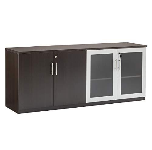 Safco Products MVLCLDC Medina Cabinet, Mocha