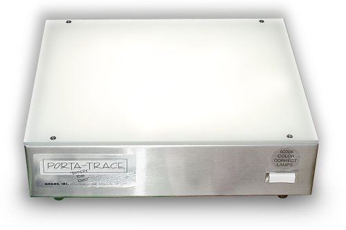 Porta-Trace 10X12 Light Box Has Stainless Steel Frame And Two 5000K Color-Quality Bulbs