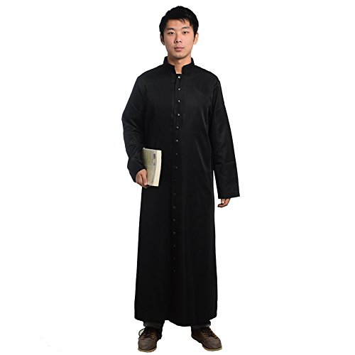 Blessume Xl Accappatoio Liturgicoparamenti Romano nero Tonaca vxqArwvF8