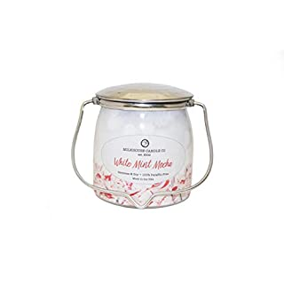 Milkhouse Candle Company, Limited Edition Scented Soy Candle, Wrapped Mason Jar Decorative Candle, White Mint Mocha, 16oz