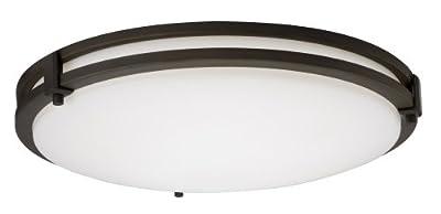 Lithonia Lighting 11750 BZA M4 Saturn Round 2-Light Energy Star 13-Inch Semi Flush Light, Antique Bronze