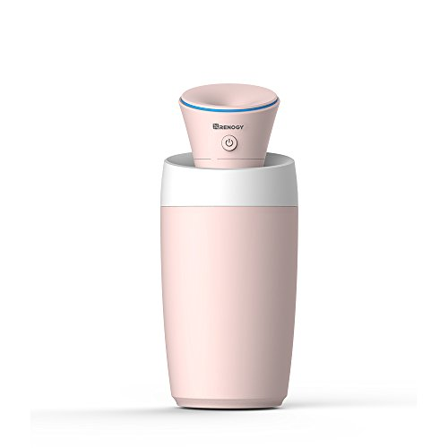 Renogy Mini Humidifier Portable Small Light with USB Cold Mist Silent Safe Automatic Shutoff Easy to Clean for Bedroom Baby Room Office Car Yoga Spa by Renogy