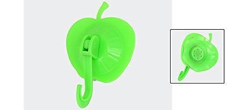 Amazon.com: eDealMax Manzana de plástico en Forma de Aseo toalla de baño Perchas Gancho ventosa Verde: Home & Kitchen