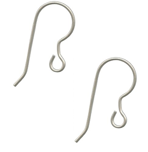 10 pcs. Pure Titanium Earring, Wires, Ear Hooks, Fish Hooks, Hypoallergenic