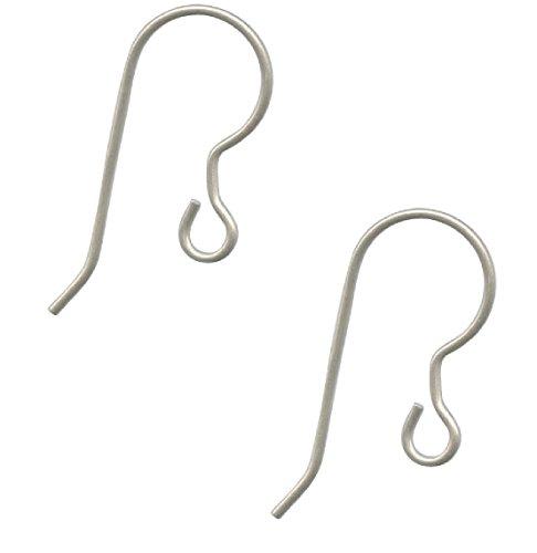 10 pcs. Pure Titanium Earring, Wires, Ear Hooks, Fish Hooks, - Niobium Ear Wires Hypoallergenic