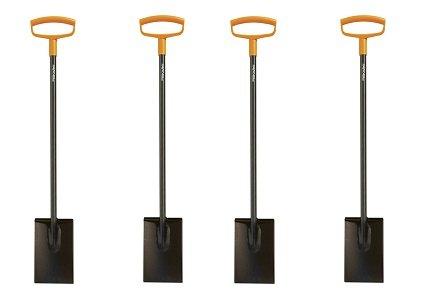 Fiskars 46 Inch Steel D-handle Square Garden Spade (4-(Pack)) by Fiskars