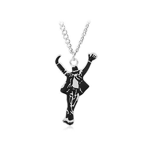 Michael Jackson commémore pendentif collier avec 60cm chaîne pour hommes femmes