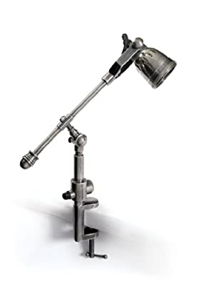 GO Home Ltd. 12385 Leighton Drafter 1-Light Desk Lamp, Industrial Steel Finish